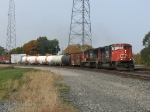 CN 5643 & 5638 roll through the interlocking with M396
