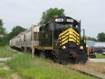 PREX 1000 transversing the light rail of the Elkhart & Western