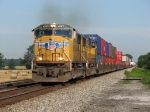 UP 4065 & 4569 charge east across rural Indiana with 25A