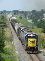 J726 rolls south past milepost 139