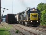 After rolling through the yard, J726 continues towards Avon