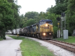 CSX 7729 leads S643 down the hill