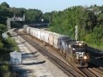 14E heads onto the double track through Lafayette Junction