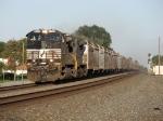 51R rolls west as a unit grain train