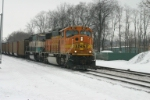 BNSF 8817 heads through CP 463