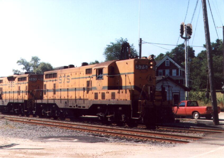 MEC 575 and turned train order signals