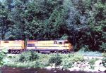 MEC 404 leads a freight