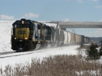 CSX 8701 leads Q335-20 westward