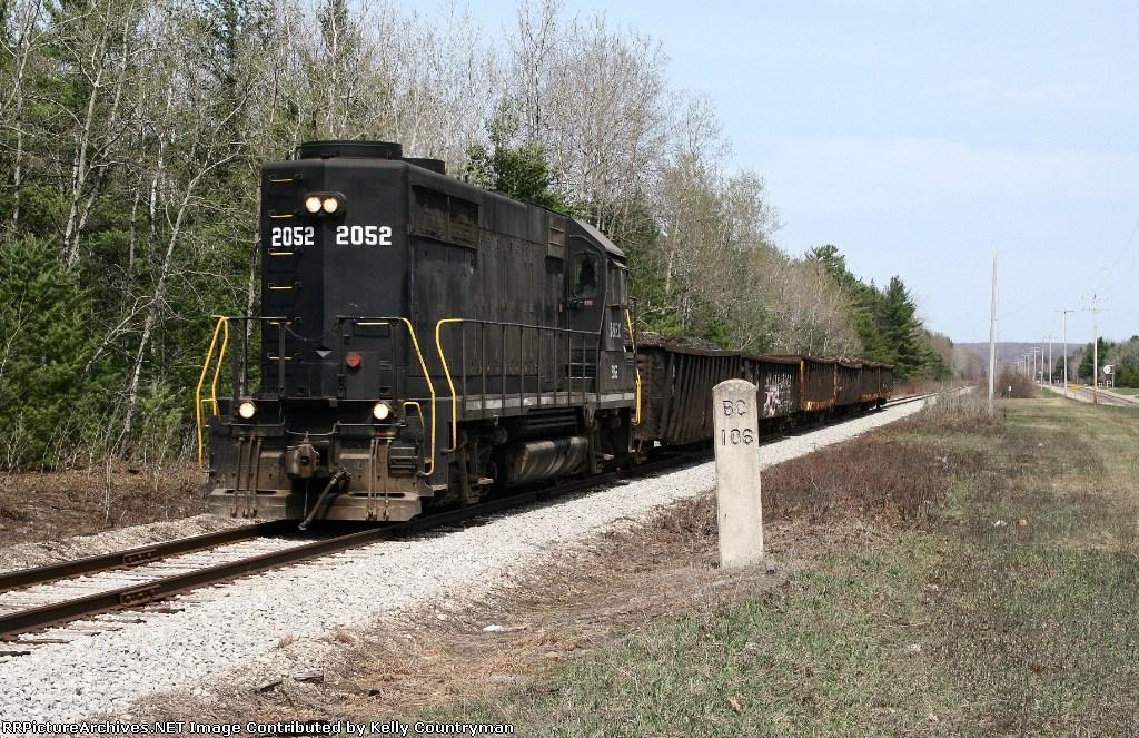 LSRC 2052 southbound at milepost 106