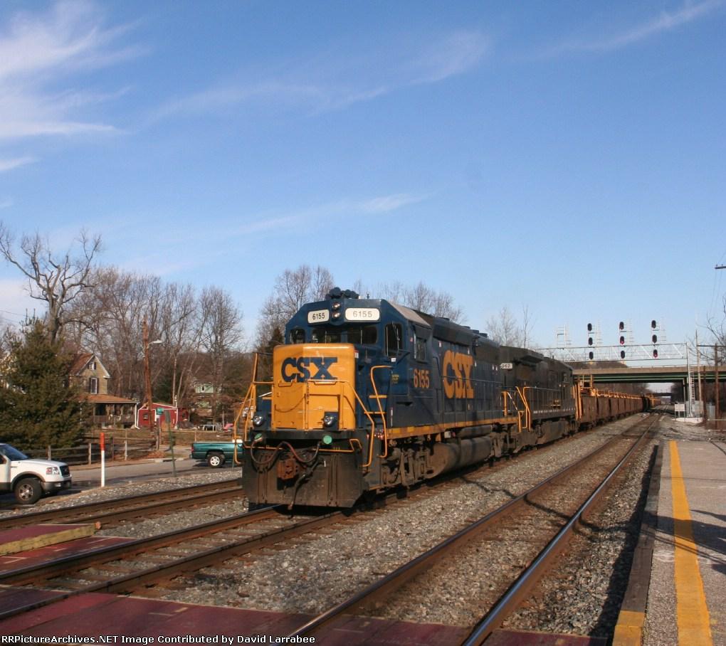 Lead CSX 6155 on D021 headed east