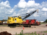 Lots of History: CNW Crane; MP Flat Car and Caboose; UP Truck and UP Locomotive
