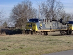 CSX 497 rolls through Shelby Park