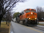 ANOTHER surprise! BNSF 7544 leads NS 191 down 6th Street