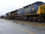 CSX 5440 & 99 on a gloomy day