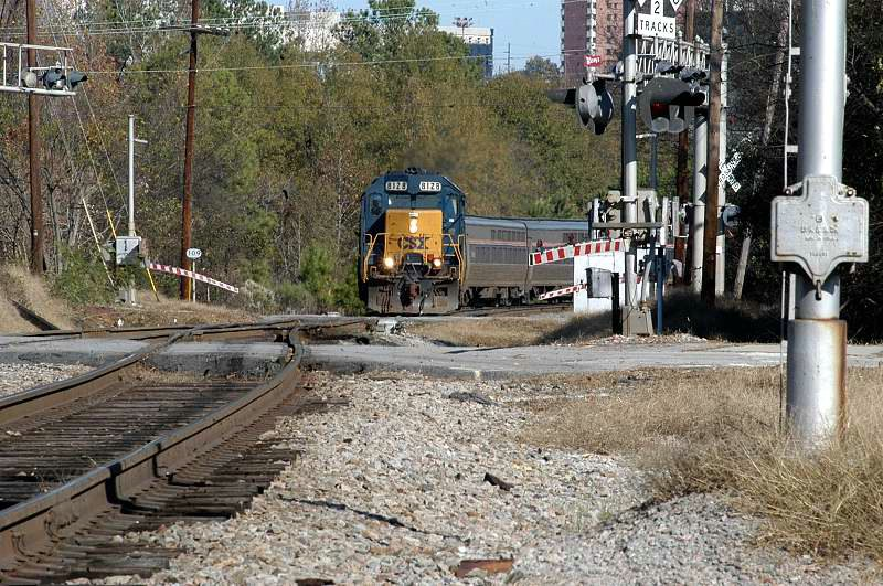 Looks like amtrak had engine problems departing town 11 hours late with a csx unit in lead