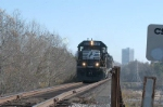 z368 (NS P65)starts up the CN&L to Newberry to get some wood chips