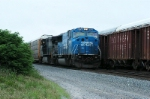 238 heads into andrews yard with ex conrail unit