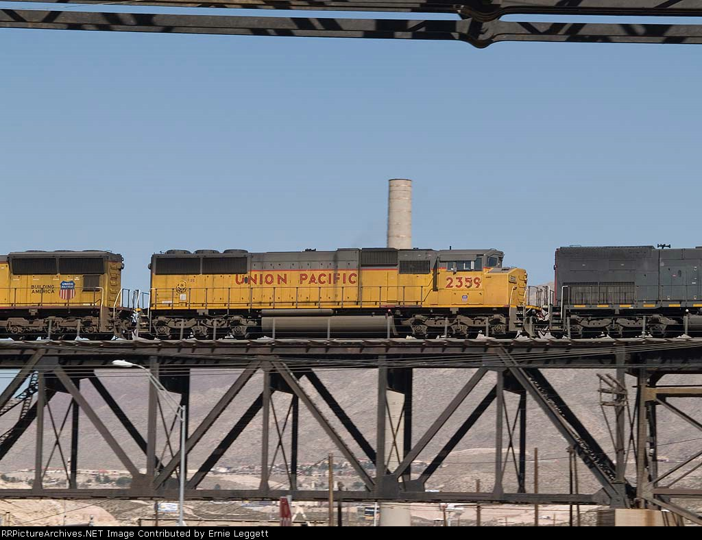 UP 2359 #2 power in a WB manifest at 12:40pm