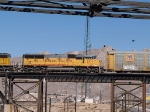 UP 2371 #2 power in a WB autorack/doublestack (IEPLB - El Paso/Long Beach, CA) at 12:48pm