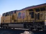 UP 5317 rear DPU in a WB grain train at 12:41pm