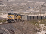 UP 5990 leads a WB coal train at 1:30pm