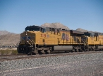 UP 5291 leads a WB doublestack at 12:49pm