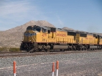 UP 4379 leads a WB doublestack at 1:32pm