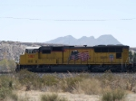 UP 3813 leads an EB doublestack at 11:56am