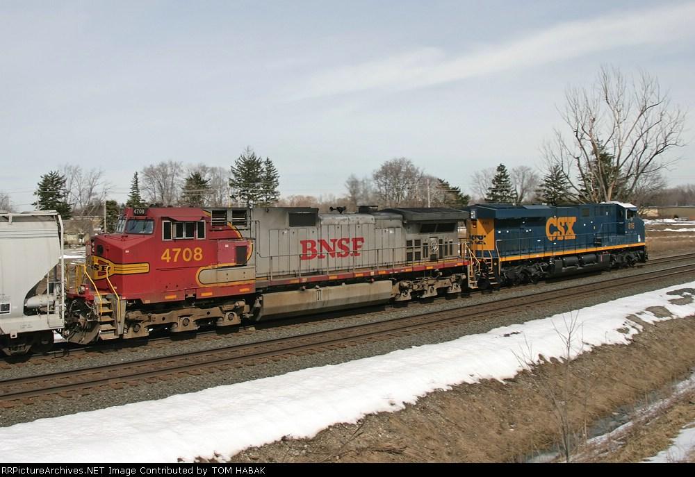 BNSF 4708 on CSX Q380-16