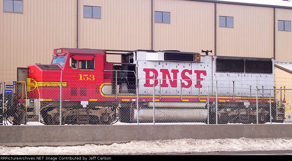 BNSF GP60M, stripped of parts