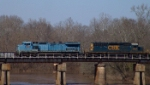 CSX 7919 crosses the Flint River