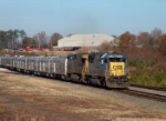 CSX 8580 leads the Ringling Bros. Barnum & Bailey circus train