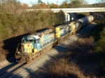 CSX 8093 leads an all SD40-2/YN-2 consist