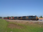 CSX 4726 leads a hoard of PRLX scrapers headed to Waycross, GA
