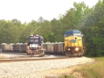 CSX 9037 running head to head with Junction City mining engine
