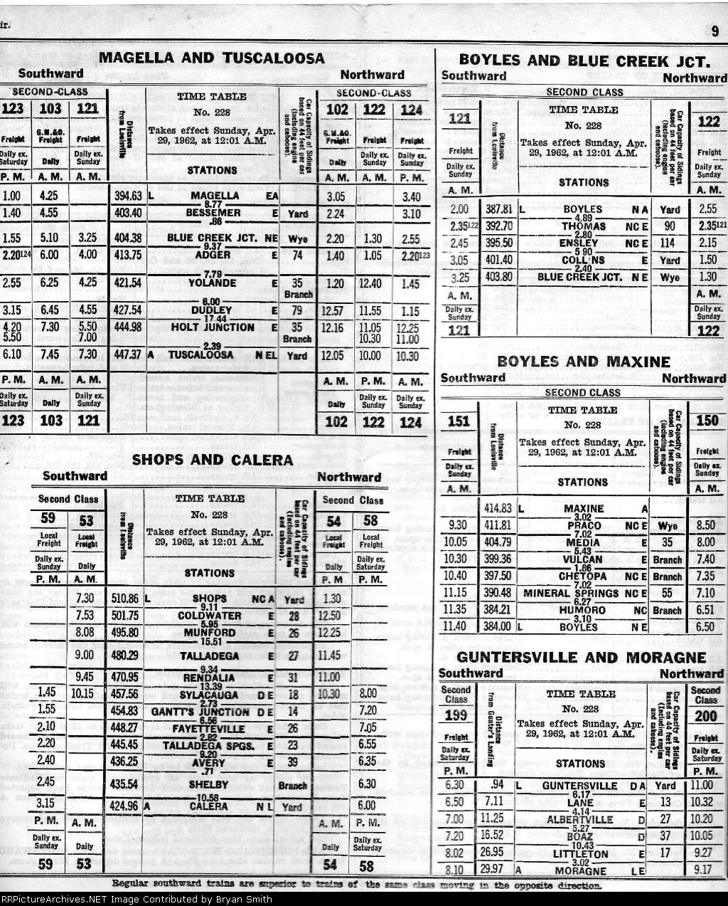 page 9 of ln birmingham division employee timetable 228 of 4291962