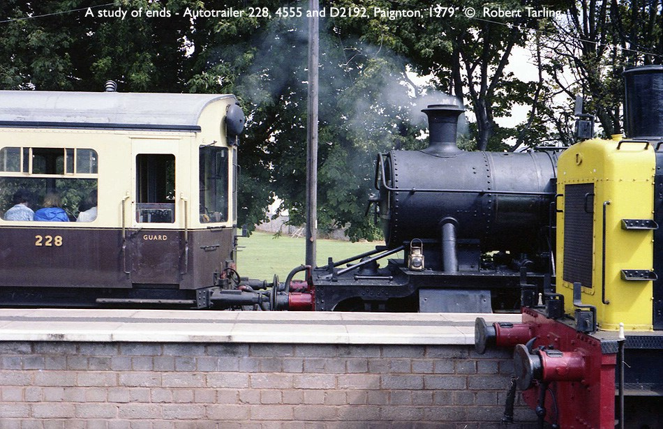 A study in ends, showing Autotrailer W228W, 4555, and D2192.
