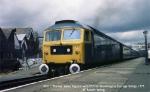 47511 'Thames' leaves Paignton with ECS for Goodrington Carriage Sidings.