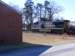 CSX 5476 switches the new Chemical Plants siding