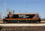 CBQ 9255 heads out of the shed to do some car movements