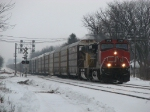 IC 2718 & UP 8332 rolling west with E279