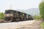 An east bound grain train