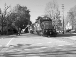 NS 192 streetrunning in B&W with AWESOME all EMD power!