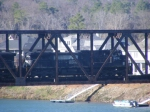 NS 9231 crossing the Savannah River Bridge