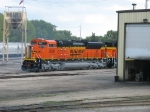 BNSF 9208 sits behind the paint shop