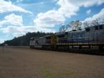 CSX 455 CSX 528 go south leading a stack train