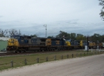 CSX 7665 - six engine consist heads south