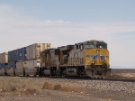 UP 5508 leads a WB doublestack at 2:01pm