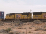 UP 3817 #2 power in a WB doublestack at 11:44am