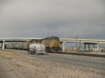 UP 6501 leads a WB grain train at 4:35pm